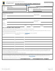 """Form PC-1.10 """"Petition for Voluntary Informal Administrator"""" - Rhode Island"""