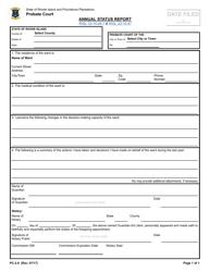 "Form PC-2.8 ""Annual Status Report"" - Rhode Island"