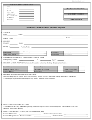 "Form A-1 ""Permanent Improvement Project Request"" - South Carolina"