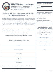 CPD Form 315 Weighmaster License Application - South Carolina