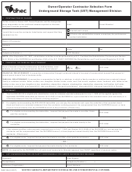 "DHEC Form 3244 ""Owner/Operator Contractor Selection Form"" - South Carolina"