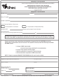 "DHEC Form 3668 ""Request for Review"" - South Carolina"