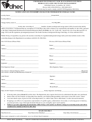 "DHEC Form 3871 ""Notification of Ownership Change for Underground Storage Tanks"" - South Carolina"