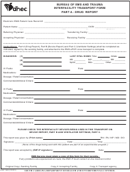 "DHEC Form 3485 ""Interfacility Transport Form"" - South Carolina"