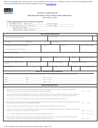 """Uniform Application for Individual Producer License Renewal/Continuation"" - South Carolina"