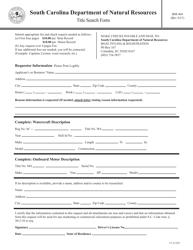 "Form BM-404 ""Title Search Form"" - South Carolina"