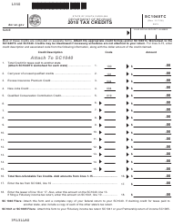 "Form SC1040TC ""Tax Credits"" - South Carolina, 2018"