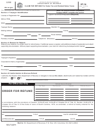 "Form ST-14 ""Claim for Refund for Sales Tax and Related Sales Taxes"" - South Carolina"
