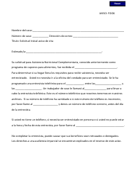 "DSS Formulario 1 ""Aviso Chip F006 - Solicitud Inicial-aviso De Cita"" - South Carolina (Spanish)"