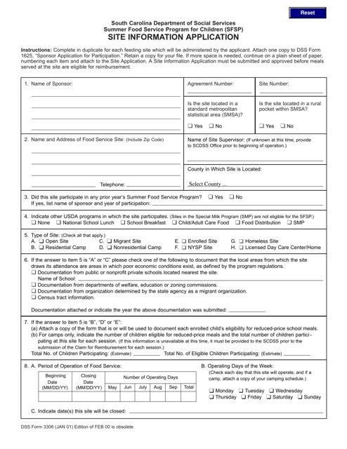 DSS Form 3306  Printable Pdf