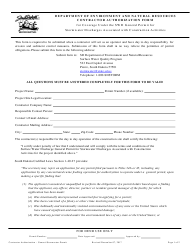 """""""Contractor Authorization Form for Coverage Under the Swd General Permit for Stormwater Discharges Associated With Construction Activities"""" - South Dakota"""
