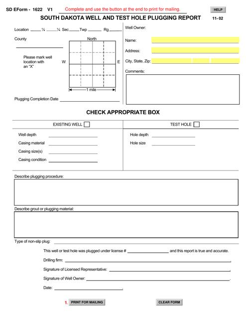 SD Form 1622  Printable Pdf