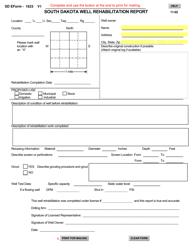 "SD Form 1623 ""South Dakota Well Rehabilitation Report"" - South Dakota"