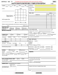 "SD Form 1621 ""South Dakota Water Well Completion Report"" - South Dakota"