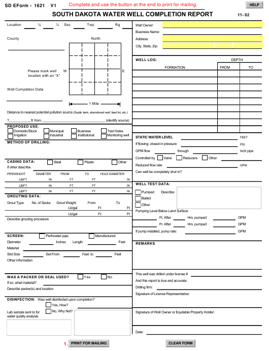 SD Form 1621  Printable Pdf