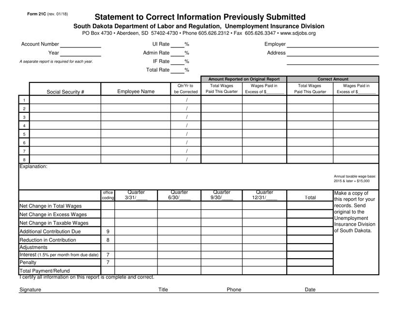 Form 21C Printable Pdf