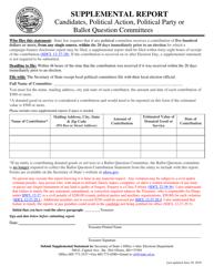 """Supplemental Report"" - South Dakota"