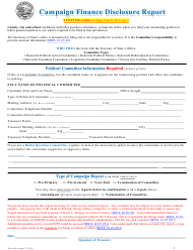 """Campaign Finance Disclosure Report Form"" - South Dakota"