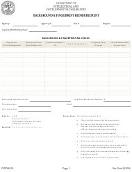 "Form DIDD-0470 ""Background & Fingerprint Reimbursement"" - Tennessee"
