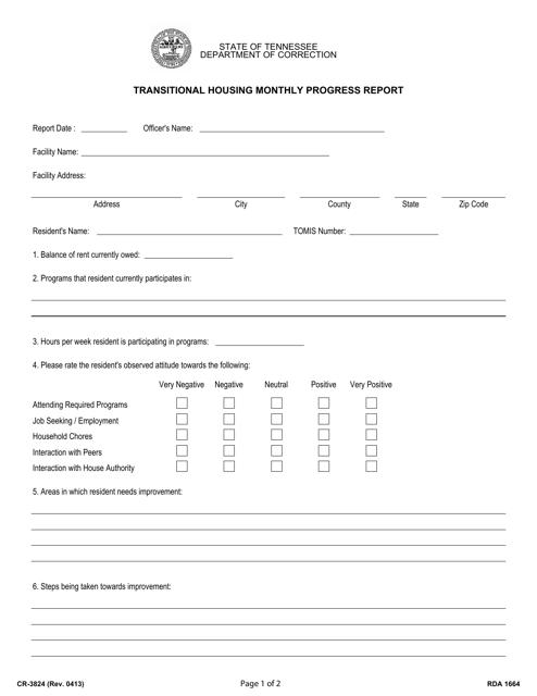 Form CR-3824  Printable Pdf
