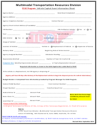 """5310 Program: Vehicle Capital Asset Information Sheet"" - Tennessee"