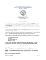 "Form SS-4306 ""Uniform Commercial Code Fraudulent Lien Filing Notarized Affidavit"" - Tennessee"