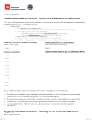 """Form AB-0205 """"Substitute Form for Submitted or Pending Documents"""" - Tennessee"""