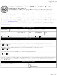 """Form K-908-2037 """"Referral for Placement in a Dshs-Funded Rtc - Child Not in Dfps Conservatorship"""" - Texas"""