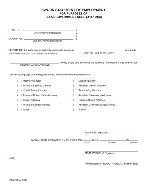 Form LTC-82  Printable Pdf
