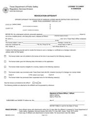 "Form RSD-552 ""Revocation Affidavit"" - Texas"