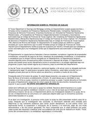 """""""Formulario Para Quejas"""" - Texas (Spanish)"""