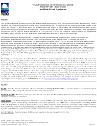 "Form OP-AR1 (TCEQ-10096) ""Acid Rain Permit Application"" - Texas"