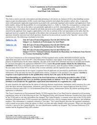 "Form OP-UA36 (TCEQ-10087) ""Steel Plant Unit Attributes"" - Texas"