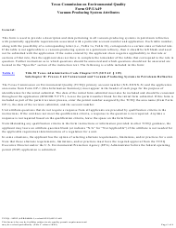 "Form OP-UA49 (TCEQ-10292) ""Vacuum-Producing System Attributes"" - Texas"