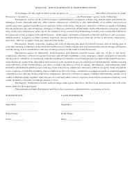 Release, Hold Harmless & Indemnification Agreement Template