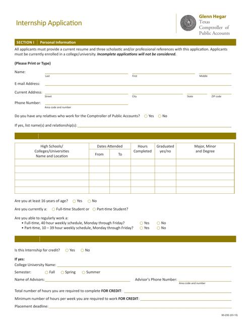 Form 95-235  Printable Pdf