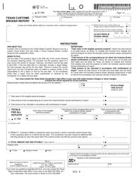 "Form 01-152 ""Texas Customs Broker Report"" - Texas"