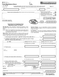 """Form 01-126 """"Texas Maquiladora Export Tax Return"""" - Texas"""