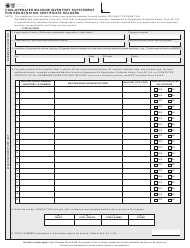 "Form AP-144 ""Coin-Operated Machine Inventory Supplement for Registration Certificate Holders"" - Texas"