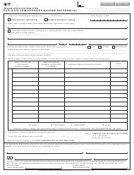 "Form AP-140 ""Texas Application for Duplicate Coin-Operated Machine Tax Permit(S)"" - Texas"