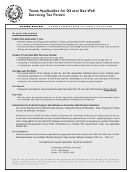 "Form AP-238 ""Texas Application for Oil and Gas Well Servicing Tax Permit"" - Texas"