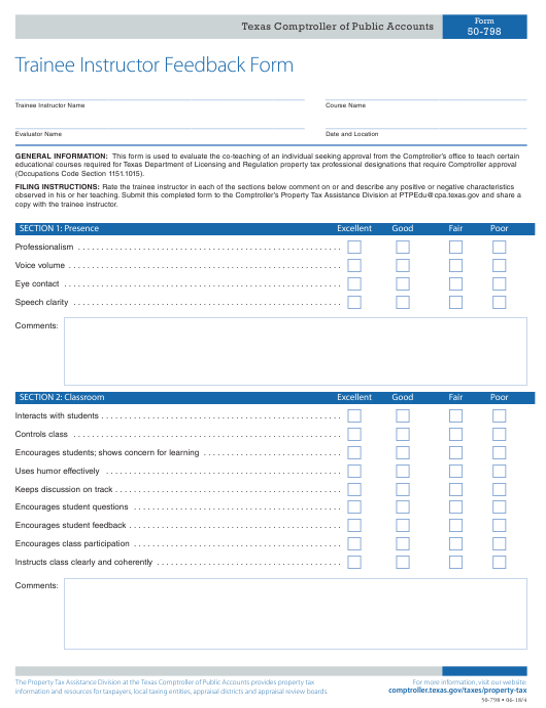 Form 50-798  Printable Pdf