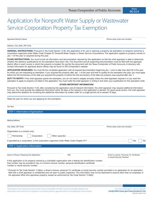 Form 50-214  Printable Pdf