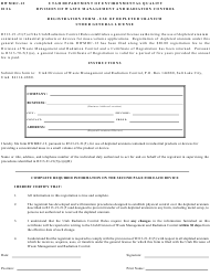 Form DWMRC-12 Registration Form - Use of Depleted Uranium Under General License - Utah