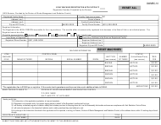 "Form DWMRC-10 ""X-Ray Machine Registration Application"" - Utah"