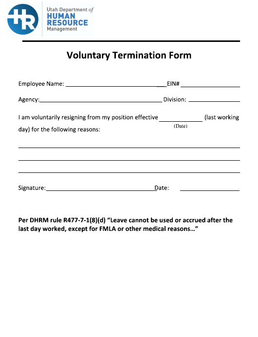 Voluntary Termination Letter from data.templateroller.com