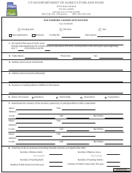 """Elk Farming License Application Form"" - Utah"