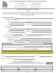"""Application for Sterilization Permit (1106)"" - Utah"