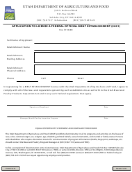 """Application to License a Federal Official Meat Establishment (2201)"" - Utah"