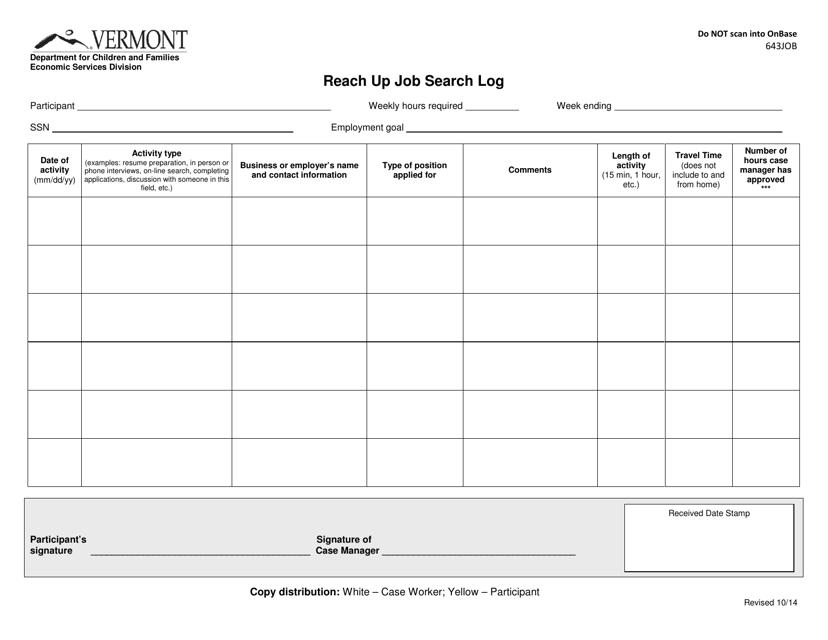 Form ESD643JOB Printable Pdf